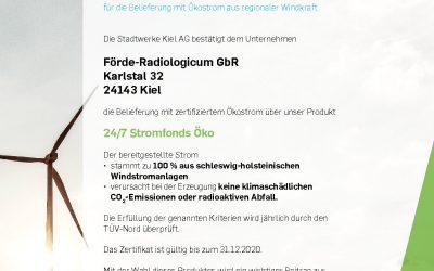 Ökostrom im Förde-Radiologicum